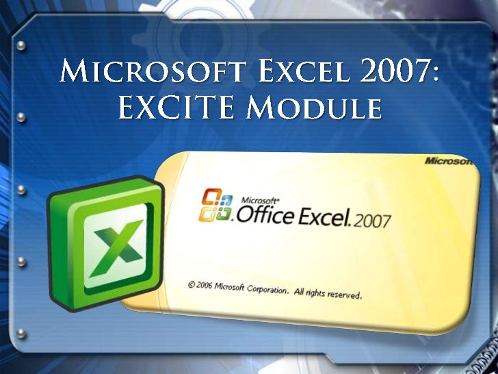 The MS Excel 2007     It is the world's most widely-used spreadsheet program, and is part of the Microsoft Office suite. E...