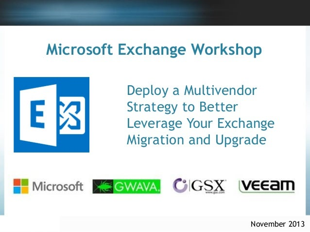 Ms exchange workshop GSX Exchange server performance & reports