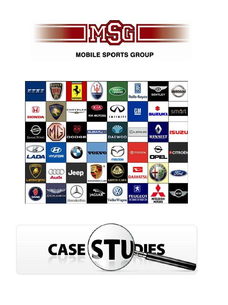 Mobile Sports Group Automotive Case Studies