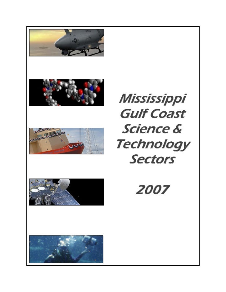 Mississippi  Gulf Coast  Science & Technology   Sectors     2007
