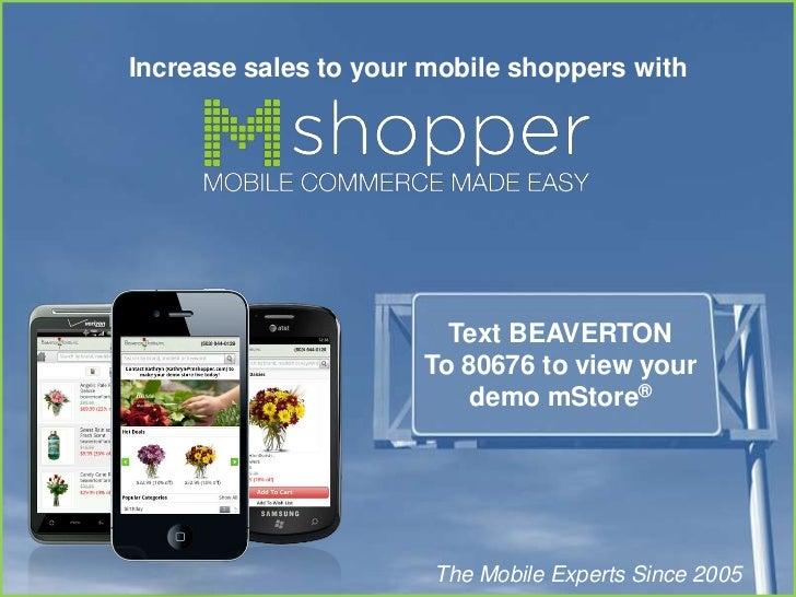 mShopper mobile mStore and marketing platform