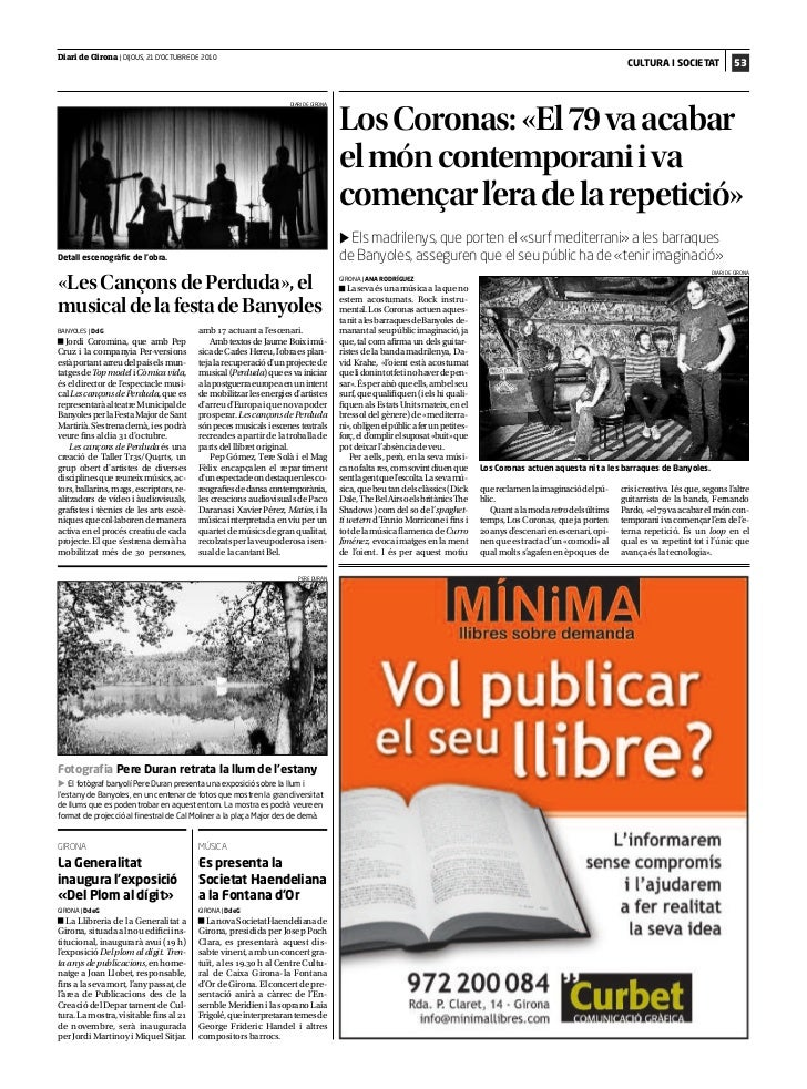Diari de Girona | DIJOUS, 21 D'OCTUBRE DE 2010                                                                            ...