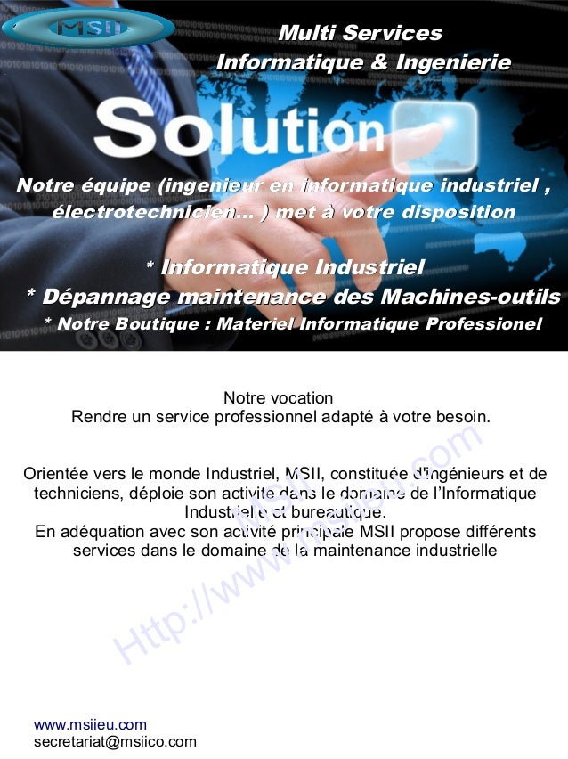Multi ServicesMulti Services Informatique & IngenierieInformatique & Ingenierie Notre équipe (ingenieur en informatique in...