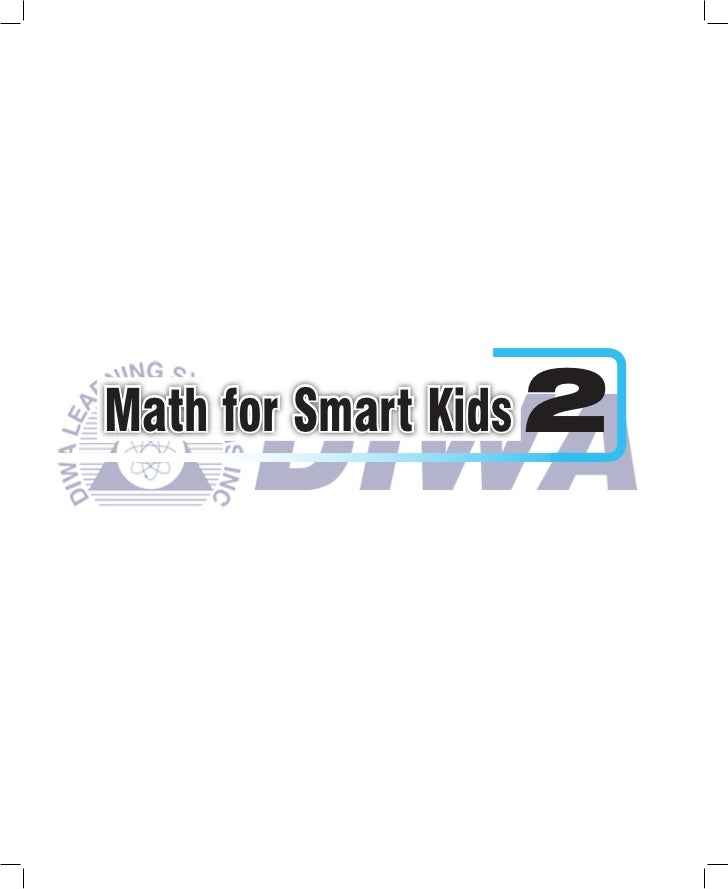 Math for Smart Kids 2