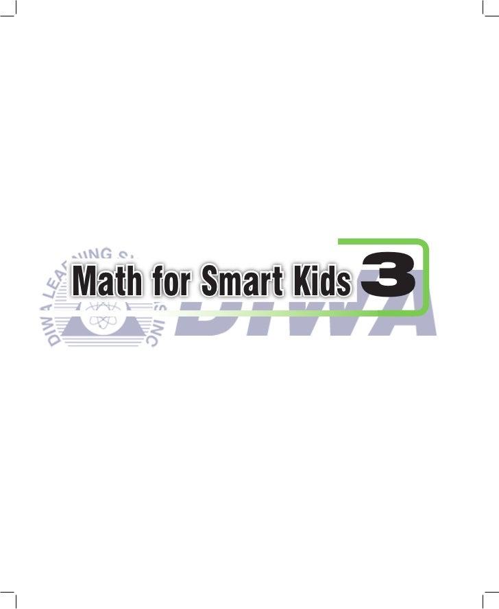 Math for Smart Kids 3
