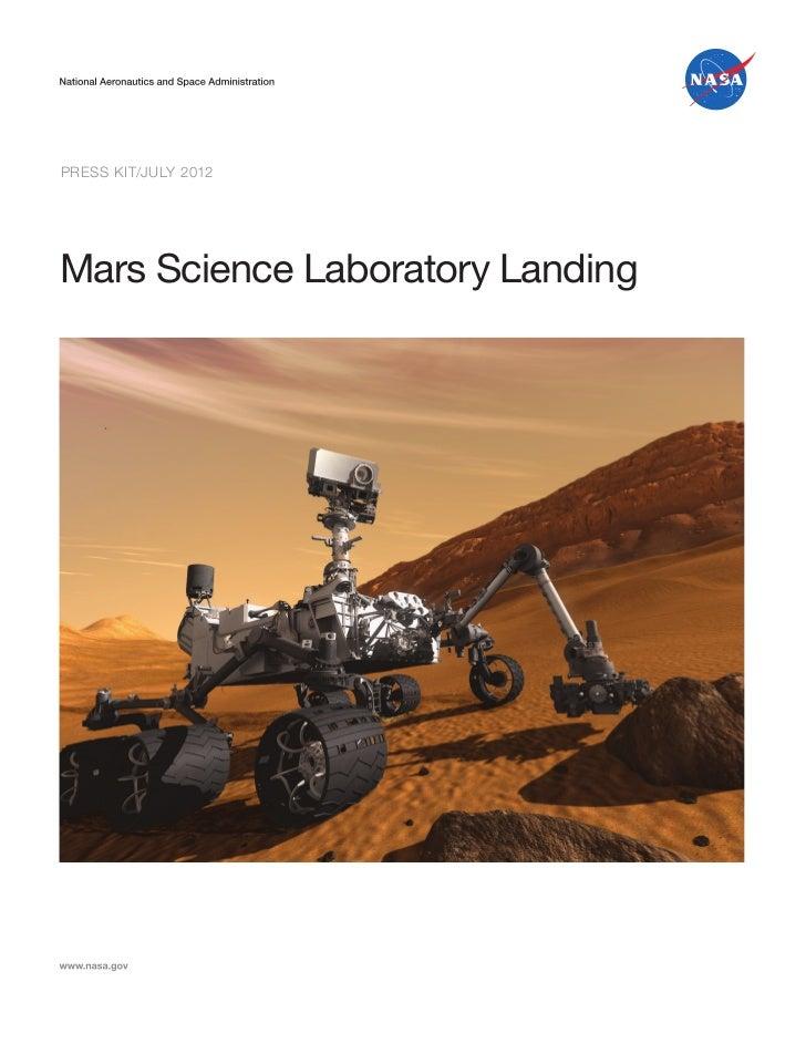 Press Kit/JULY 2012Mars Science Laboratory Landing