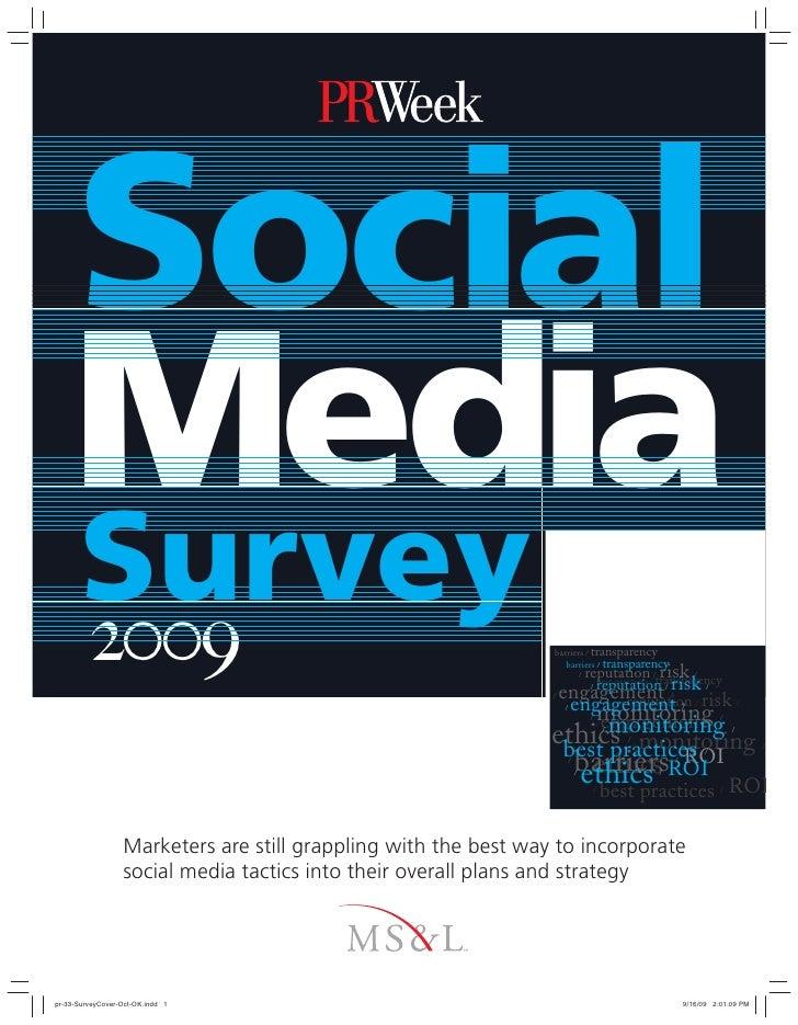 MS&L PR Week 2009 Social Media Survey