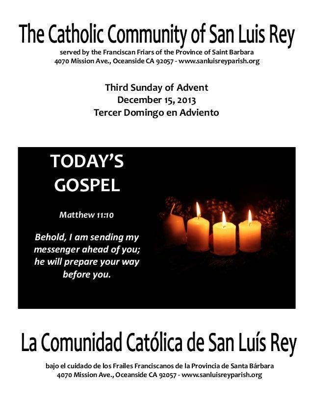 Bulletin for 12-15-2013, Gaudete Sunday