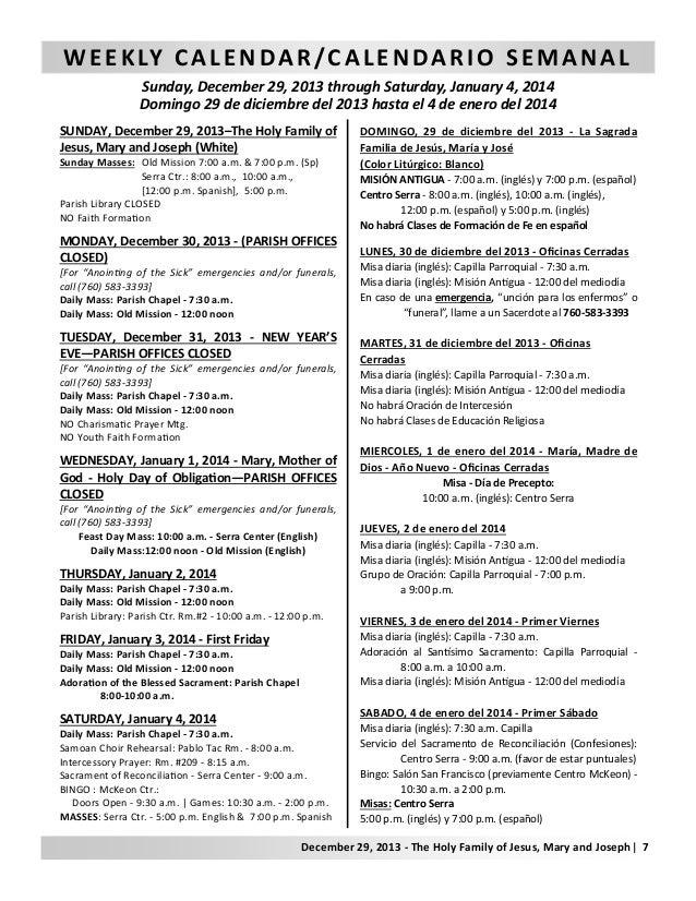 Boletin Parroquial.12-29-2013