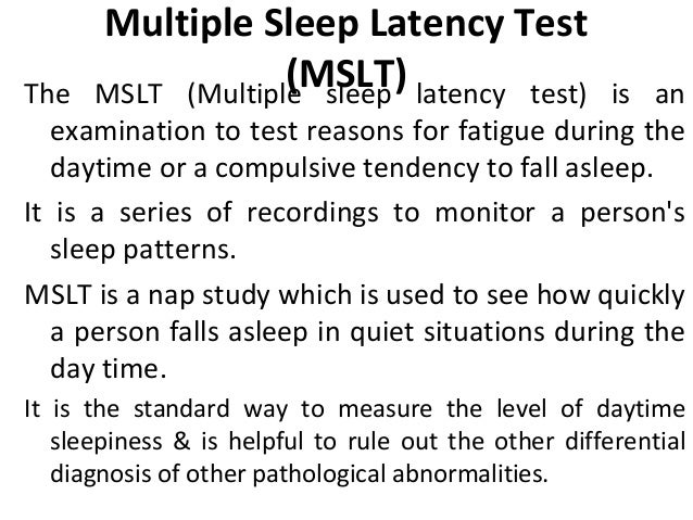 Multiple Sleep Latency Test - Overview and Facts