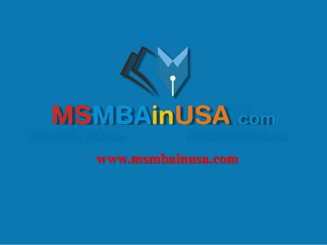 MS MBA in USA : Higher Education in Abroad