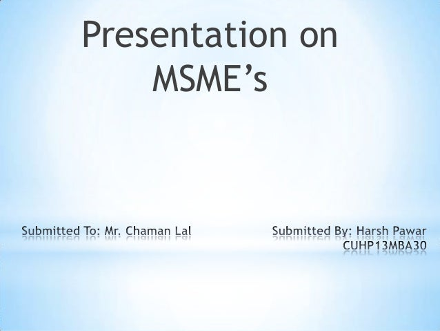 MSME'S in india