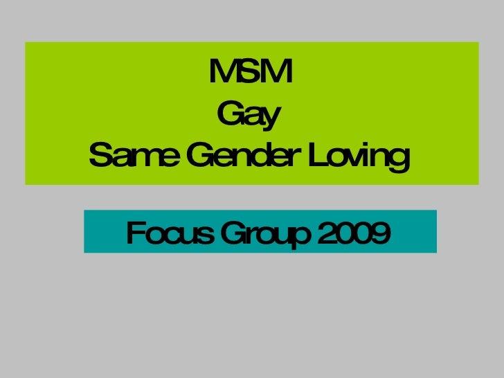 Msm Focus Group Ppt 2009