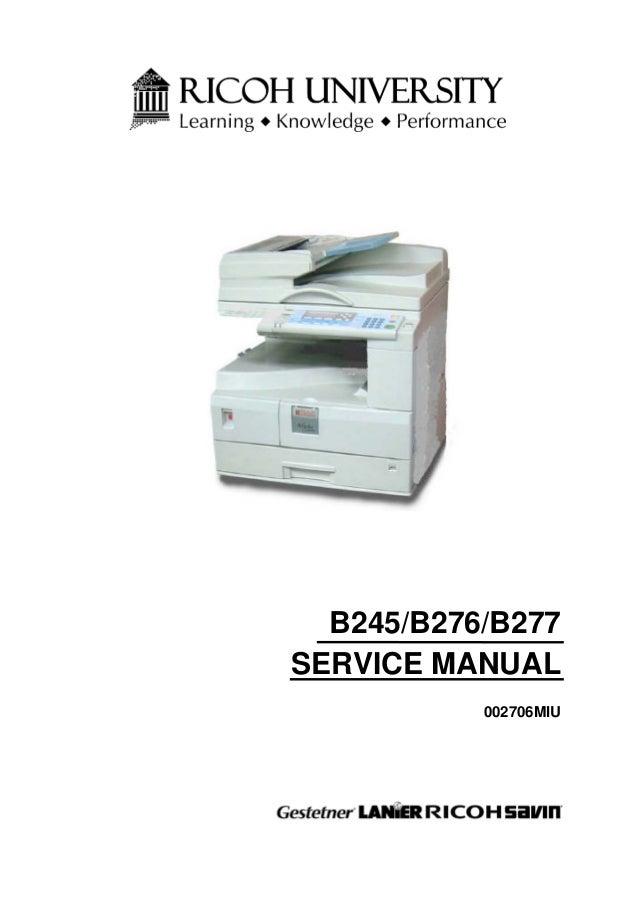ricoh mp c4502 service manual