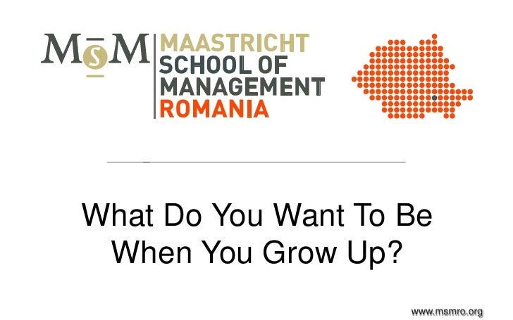 MSM Romania Think Leadership June 2012 Workshop