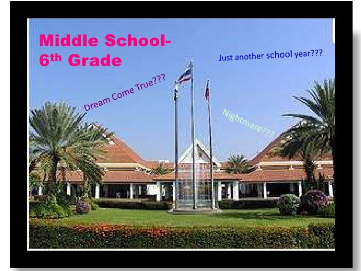 Middle School-6th Grade<br />Just another school year???<br />Dream Come True???<br />Nightmare???<br />