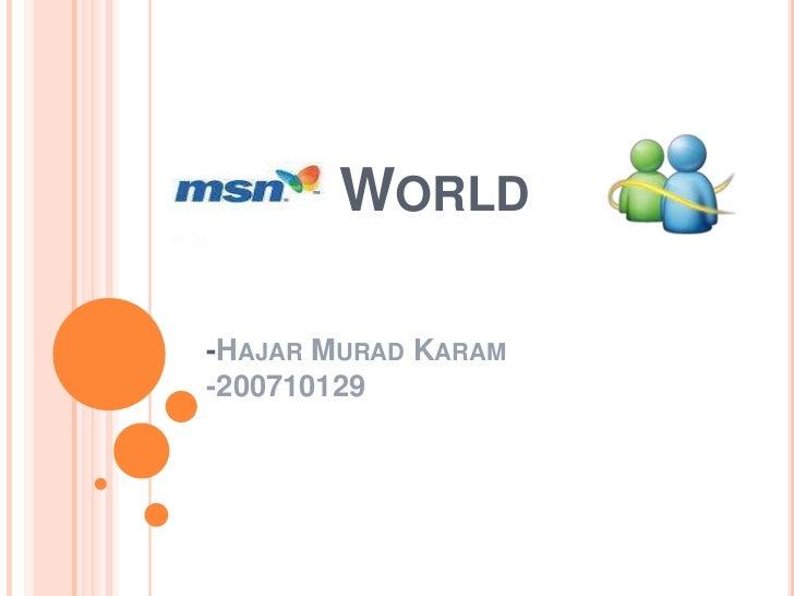 WORLD-HAJAR MURAD KARAM-200710129
