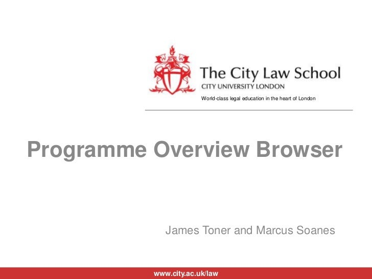 Programme Overview Browser<br />James Toner and Marcus Soanes<br />