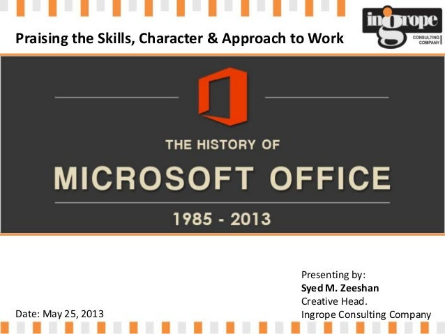 Ms office History