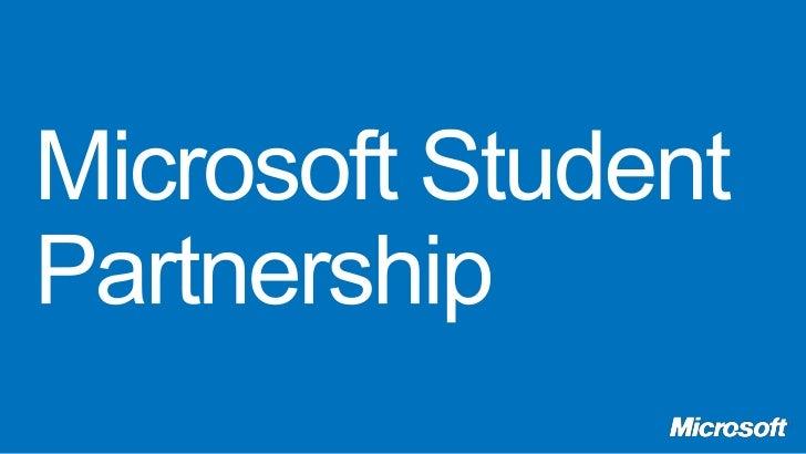 Microsoft Student Partnership