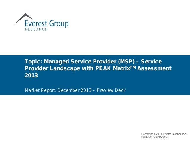 Sourcing Contingent Workforce - Rise of MSP model - Service provider landscape