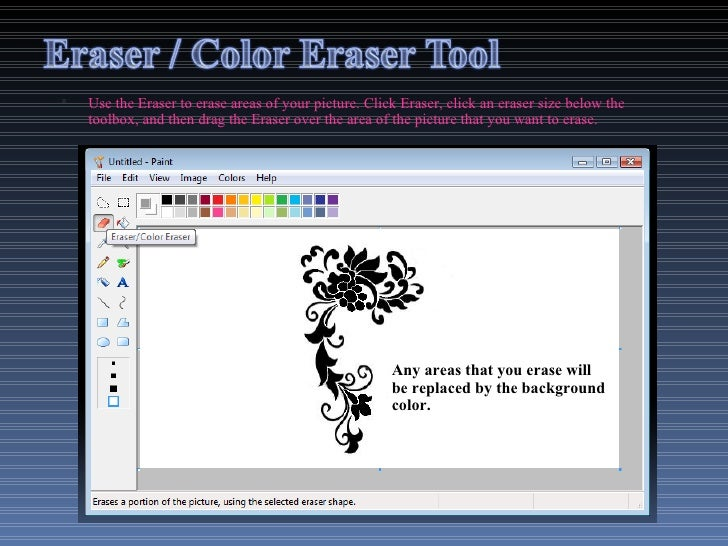 How To Make The Eraser Bigger In Paint