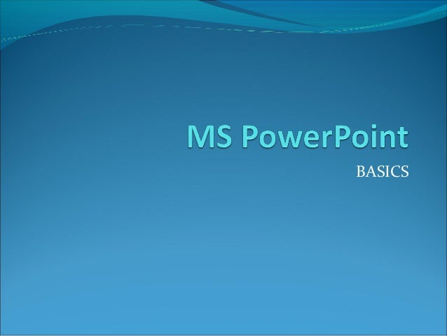Ms PowerPoint 2003 Introducton
