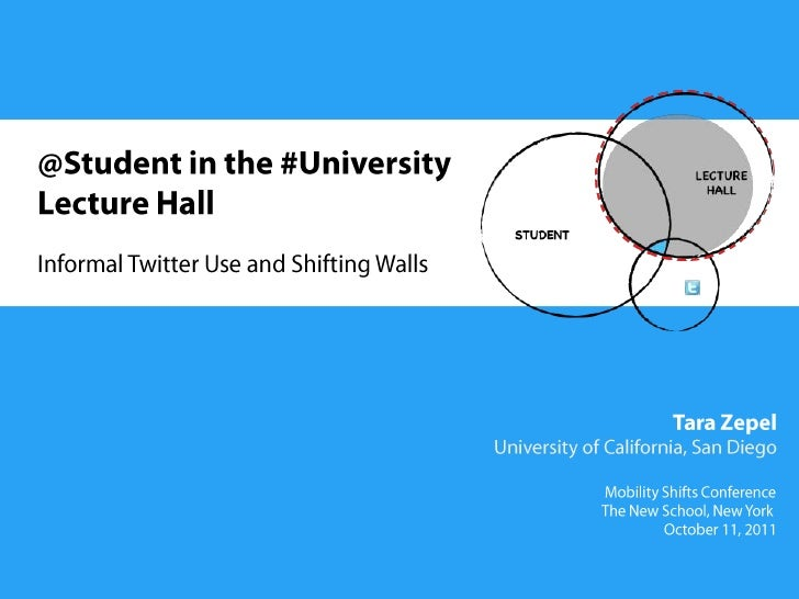 @Student in the #University Lecture Hall: Informal Twitter Use and Shifting Walls