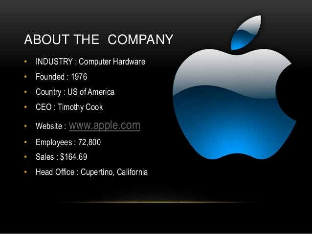 about apple company