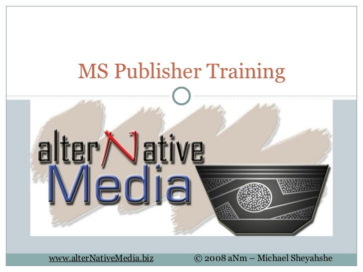 MS Publisher Training