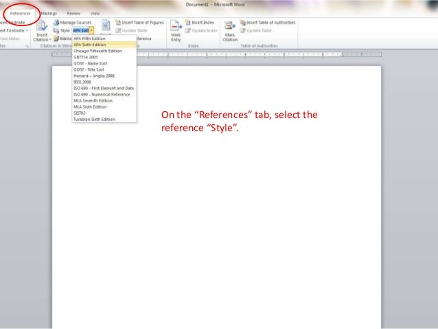 Tips for building reference pages using MS Word