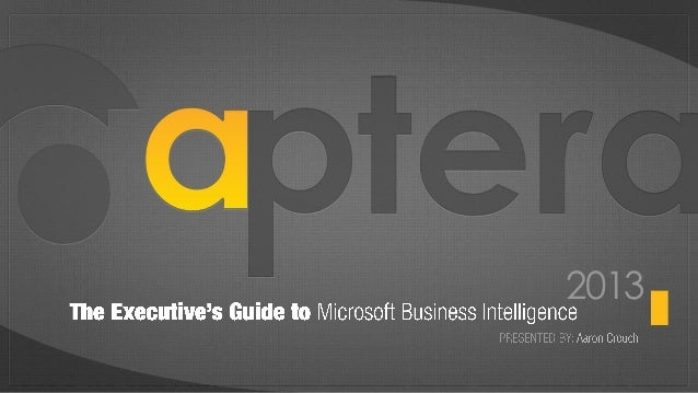 The Executive Guide To Microsoft Business Intelligence by Aptera