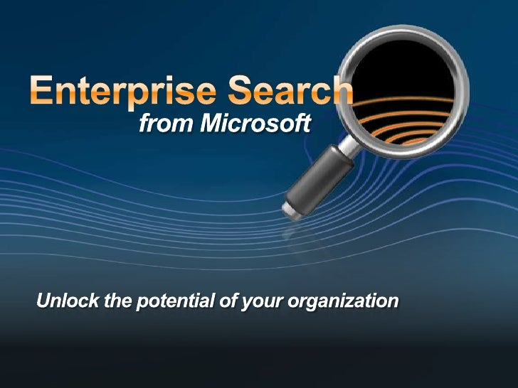 Microsoft Search Server 2008 - Technical Overview