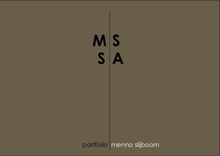 MS|SA Portfolio 2011