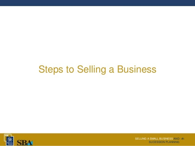 Succession planning for small business