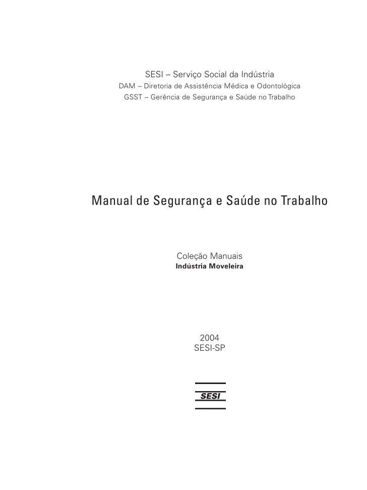 Manual de Segurança e Saúde no Trabalho na Industria Moveleira