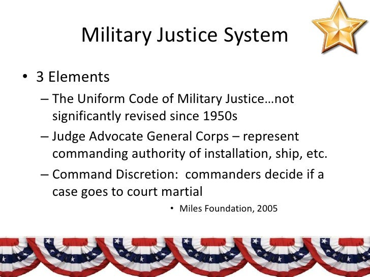 advanced course military justice system Educating those who serve join the 50,000++ us military men and women earning degrees at american military university with courses in criminal justice and.