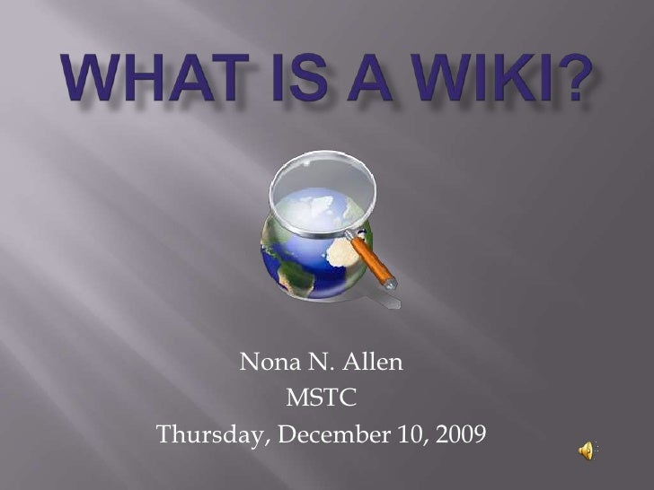 Mstc What Is A Wiki