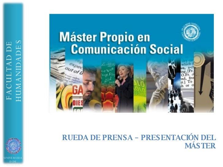 Master Comunicacion UAL