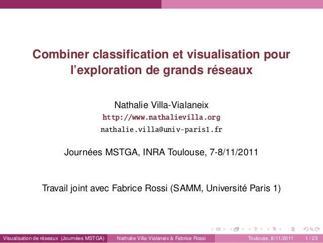 Combiner classification et visualisation pour l'exploration de grands réseaux Nathalie Villa-Vialaneix http://www.nathaliev...