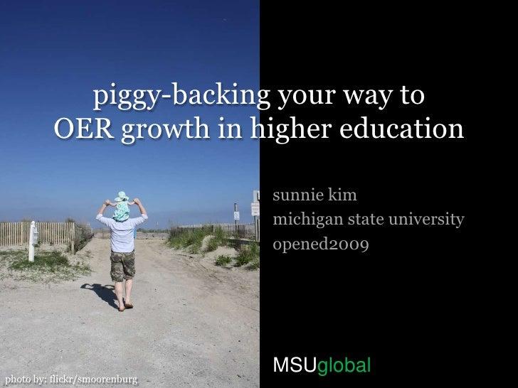 OER Growth in Higher Ed