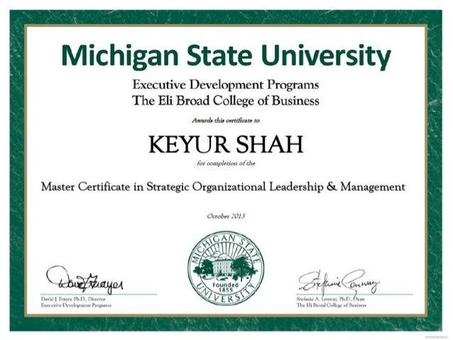 MSU - Strategc Organizational Leadership & Management