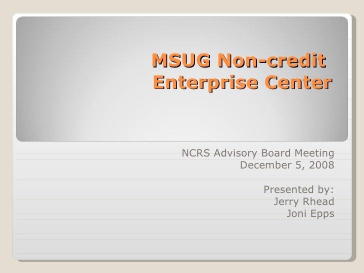 MSUglobal Non-Credit Enterprise Center