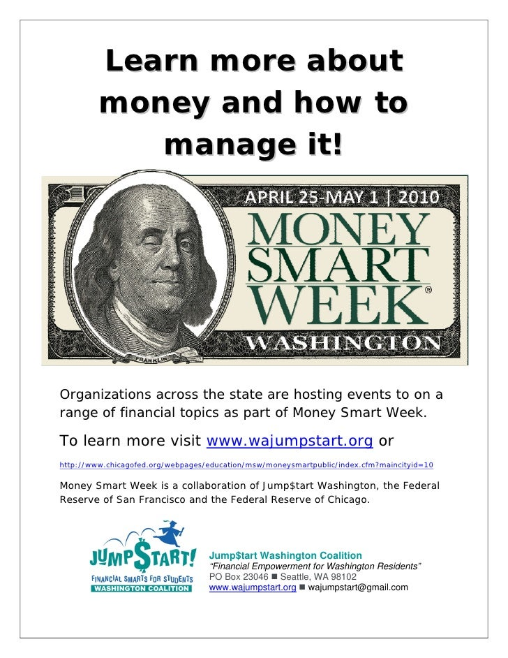 Learn more about          money and how to             manage it!       Organizations across the state are hosting events...