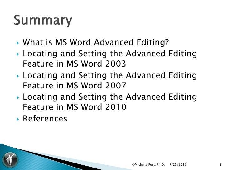 Apa editing marks