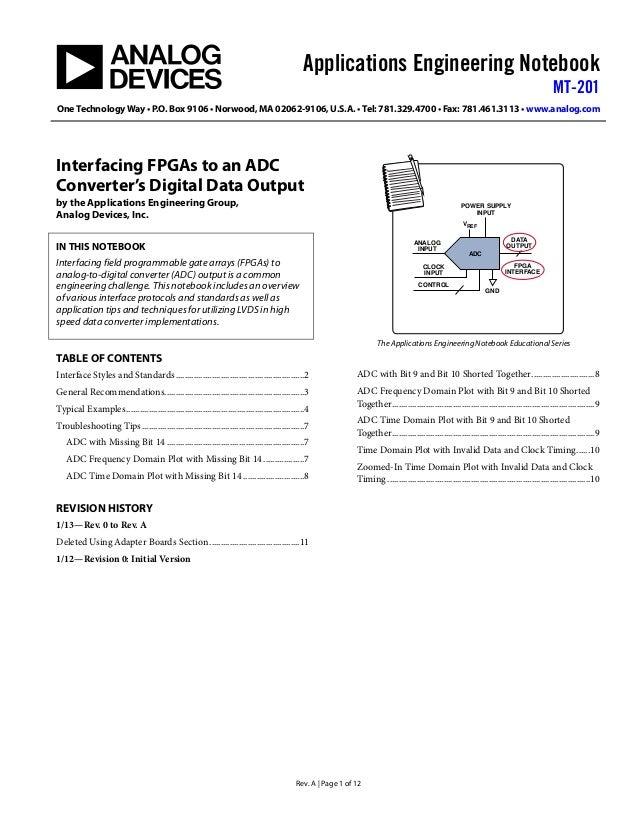 Applications Engineering NotebookMT-201One Technology Way • P.O. Box 9106 • Norwood, MA 02062-9106, U.S.A. • Tel: 781.329....