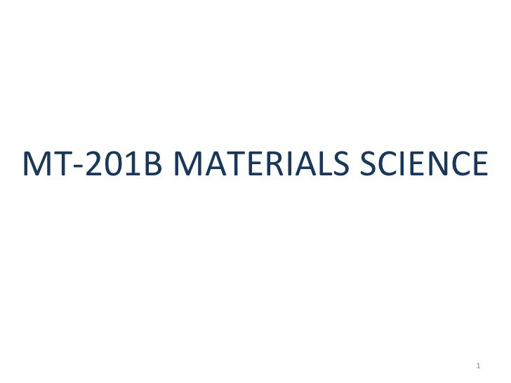 Mt 201 b material science new
