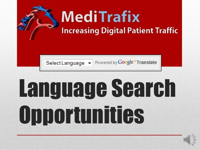 Language Search Opportunities