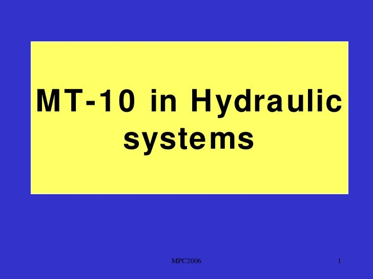 MT-10 in Hydraulic    systems       MPC2006   1