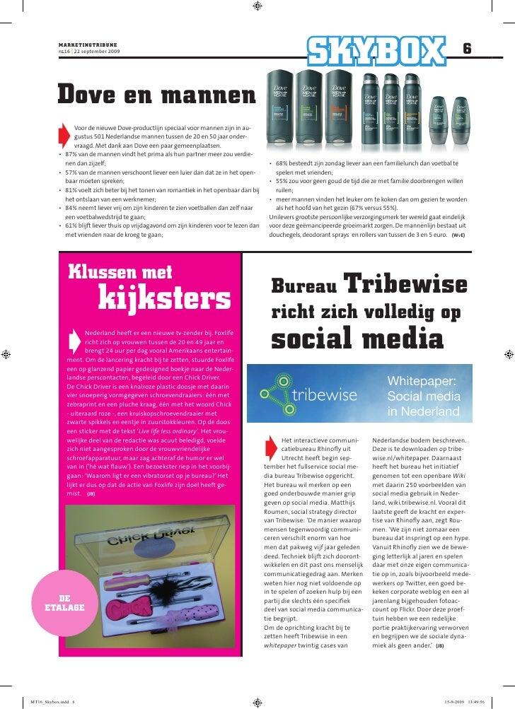 marKeTingTriBune            no 16 | 22 september 2009                                                                     ...